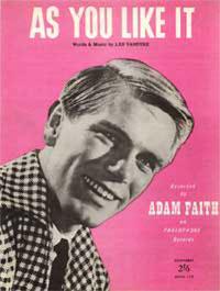 As You Like It - Adam Faith Sheet Music (PDF)