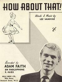 How About That - Adam Faith Sheet Music (PDF)