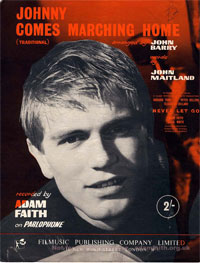 Johnny Comes Marching Home - Adam Faith Sheet Music (PDF)