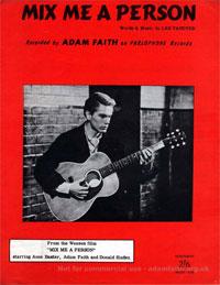 Mix Me A Person - Adam Faith Sheet Music (PDF)