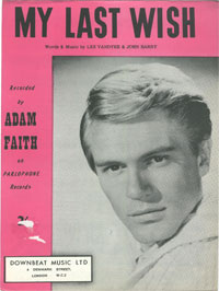 My Last Wish - Adam Faith Sheet Music (PDF)