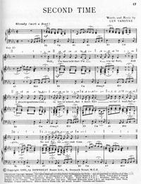 Second Time - Adam Faith Sheet Music (PDF)