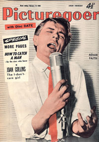 Adam Faith on cover of Picturegoer, February 13, 1960