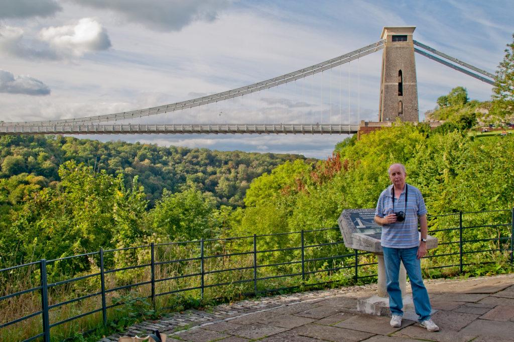 Geoff Leonard and Suspension Bridge, Bristol, UK